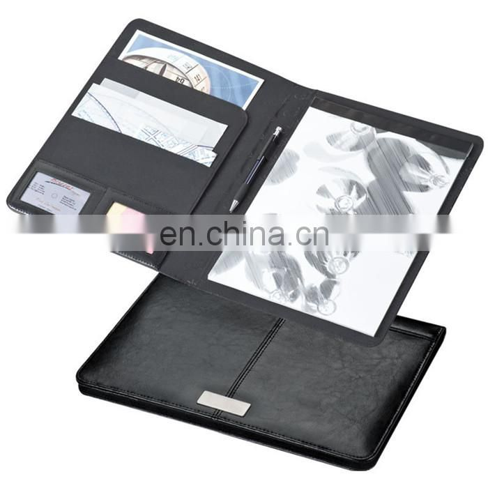 new European portable PU leather planner notebook set with cards/pen holder NOTEBO908-8