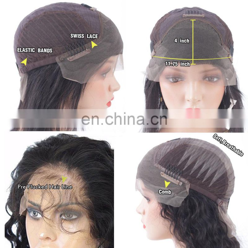 2017 New Fashion Lace Front Wigs Straight Full Lace Bob Wig short curly wig for black women