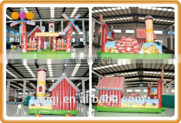 AOQI windmill farm fun city /inflatable fun city for kids outdoor games