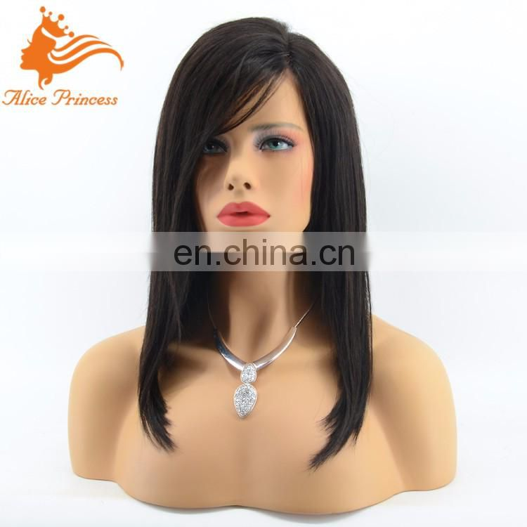 New Bob Style Unprocessed Brazilian Human Hair Full Lace Wig Natural Virgin Hair Short Lace Front Wig