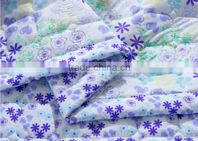 Hot sale 3D printed bedsheet satin fabric for quilt cover/polyester bed sheets quilt fabric