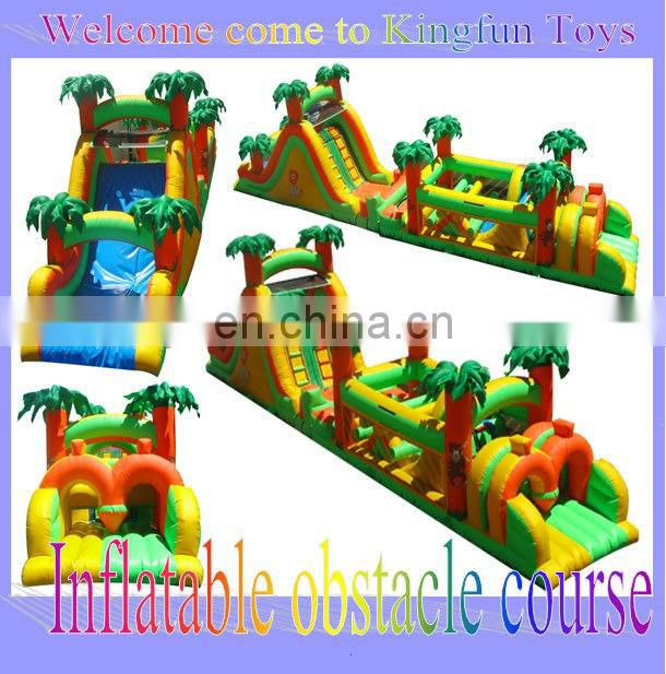 Giant pirate inflatable obstacle course with tunnle toys