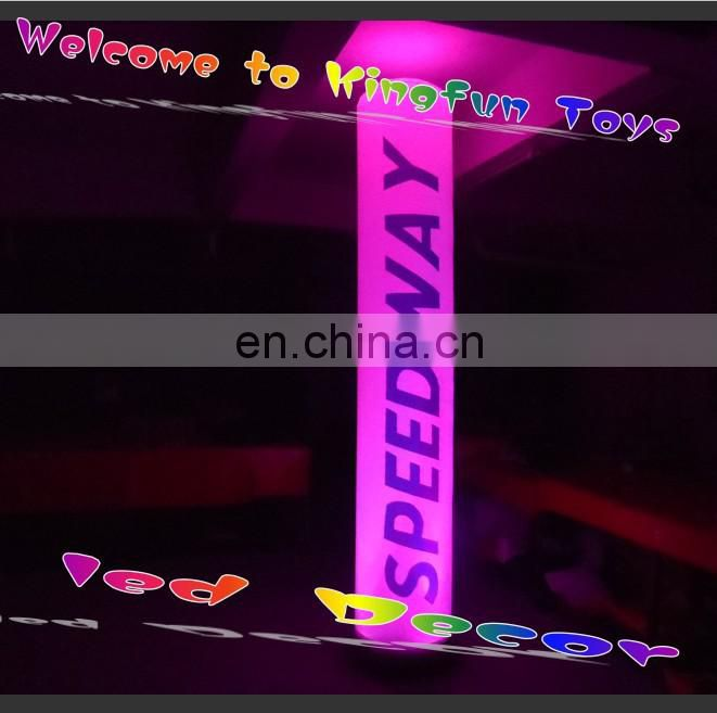 Total printing ground inflatable LED tusk for party/show/event/stage