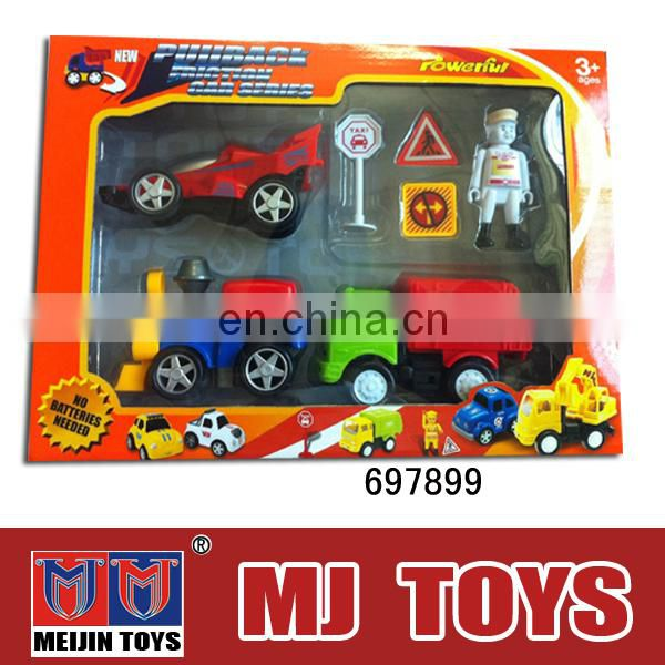 4 pcs small plastic toy car pull back kids plastic car models