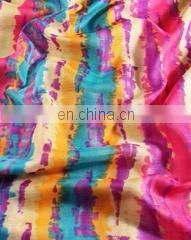 Multi-Color Shibori Kota Doria Screen Printed Fabric
