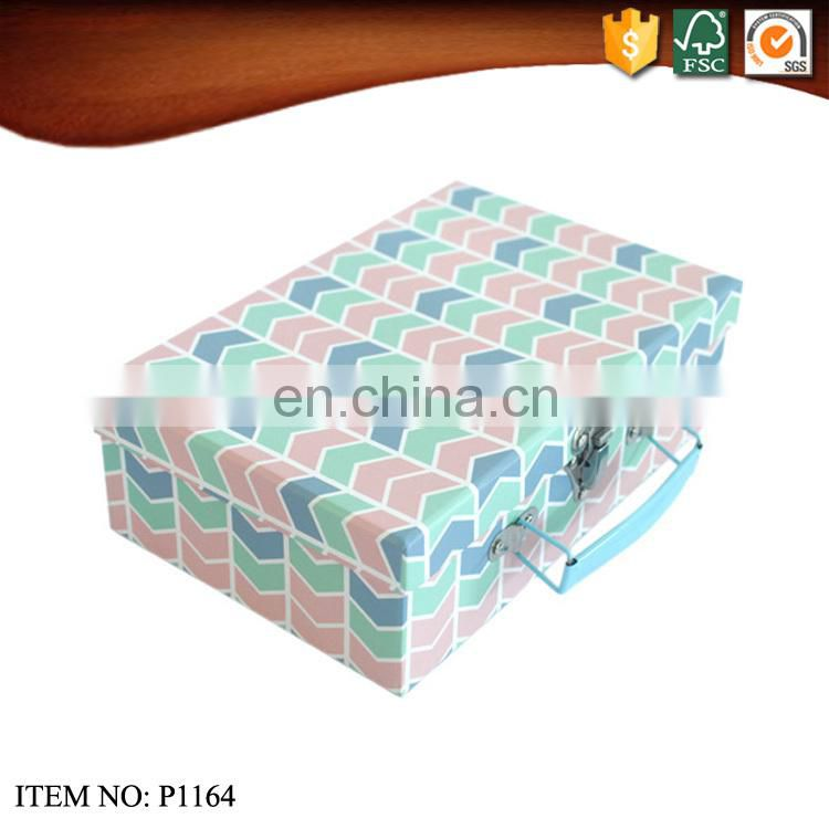 Cubic Paper Suitcase Box with Lock