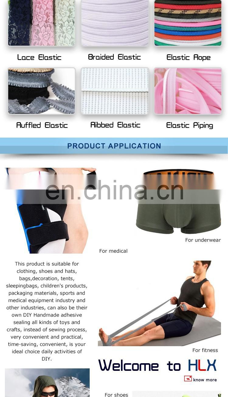 Factory directly sell eco-friendly colorful bias elastic piping tape for garment accessories