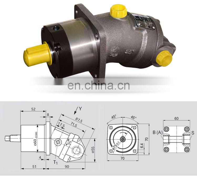 New high pressure oil pump axial piston hydraulic motor a2f