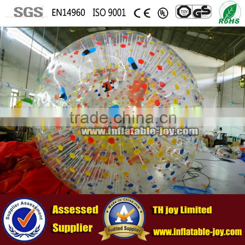 High quality body ball, inflatable human hamster ball, clear zorb ball