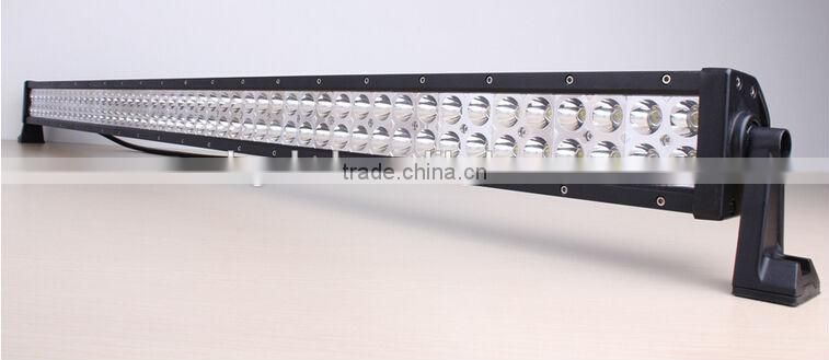 Shenzhen car accessories dual 288w 50 inch 4d illuminator led light bar for suv atv jeep