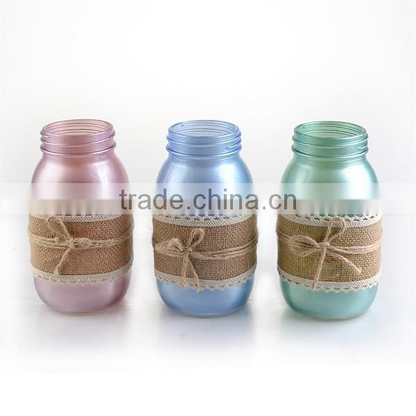 cheap colored glass flower vases