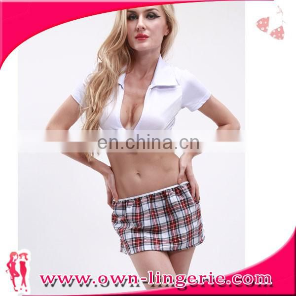 2017 Fashion Sexy School Uniform Design
