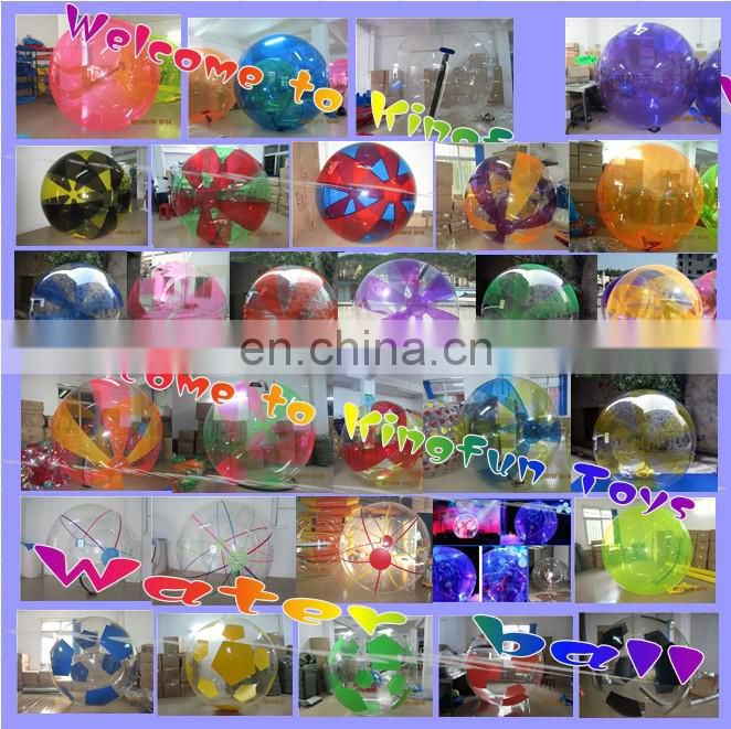 blue+clear PVC inflatable auqa ball