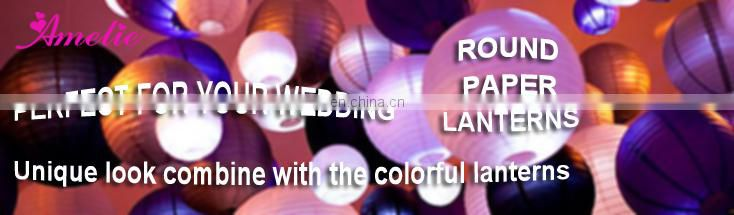 A78PL Purple pierced paper lantern lights