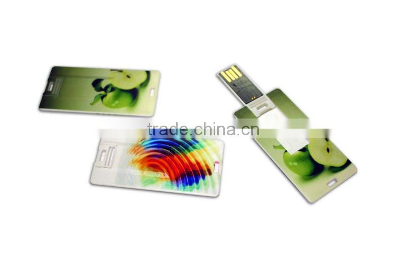 Hot sales full capacity wholesales bulk credit card usb stick slim business card usb flash drive 1 dollar usb flash drive