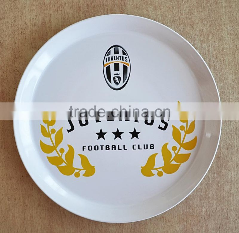 "10""Porcelain Pizza Plate with Customized Designs, Round Ceramic Pizza plate"