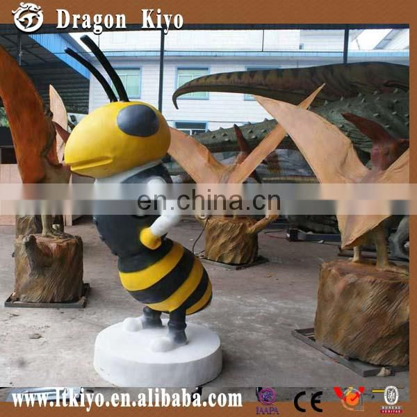 Life Size Simulation Insect bee made of silicon rubber for sale