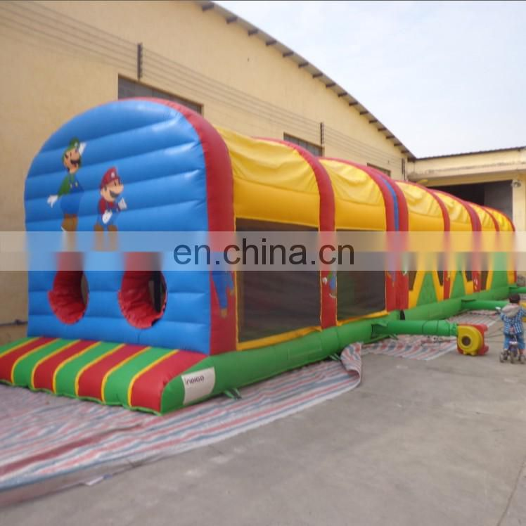 2017 newest 60ft long 18oz pvc tarpaulin Super Mario Obstacle Course