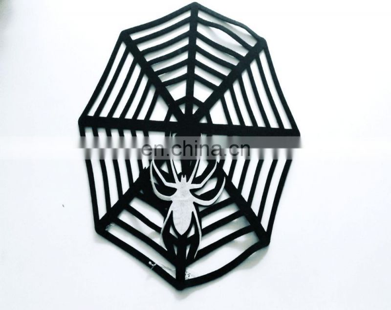 Hallwoween party accesory spider web with 4 spiders for home decoration