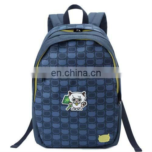canvas ergonomic school bag with good quality in your logo