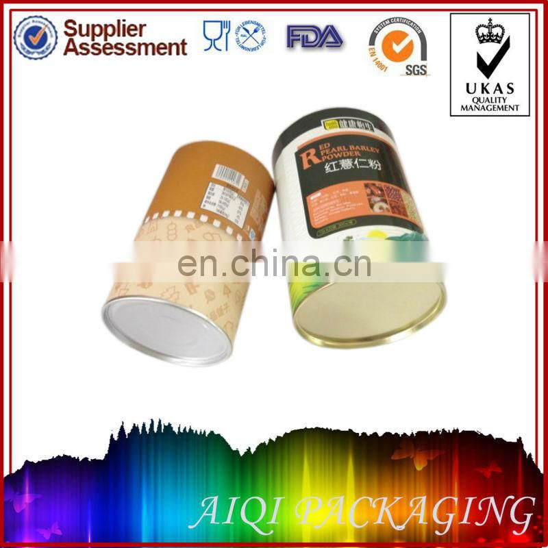 Oval paper tube for food package