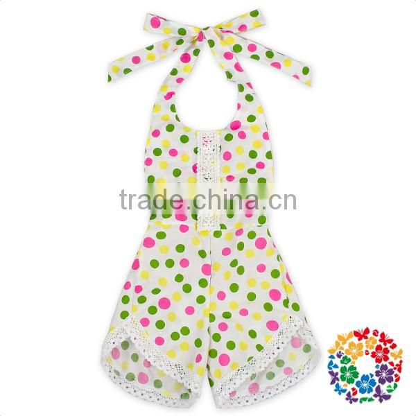 Latest european style lace fringe vintage floral cotton baby clothes rompers