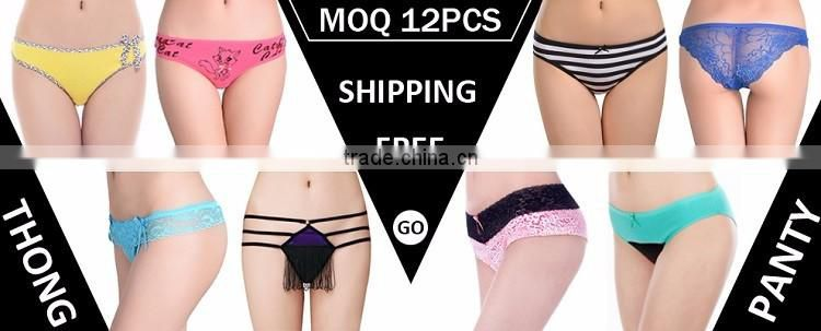 Fancy heart printing sexy lingerie soft cotton ladies brief mature women panty