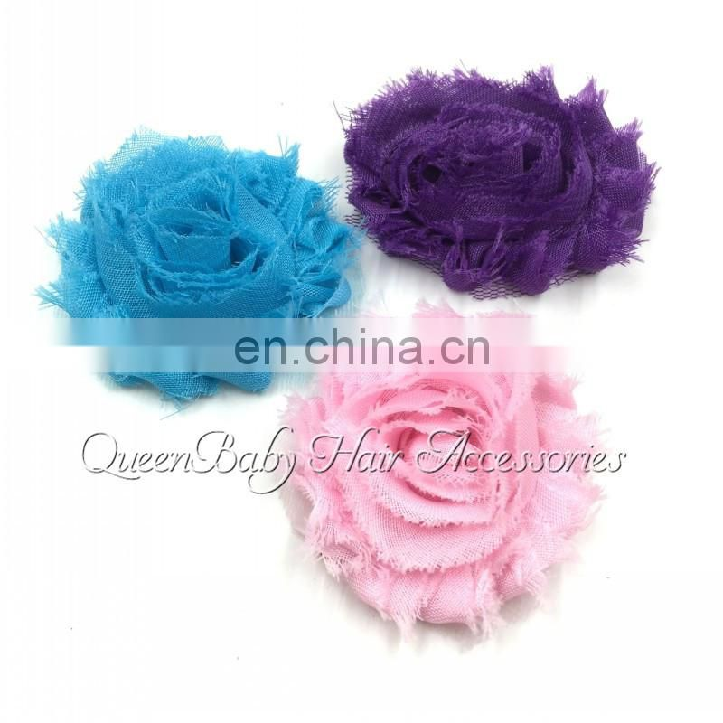 2inch Mini Shabby Flower Frayed Chiffon Flower Flat Back