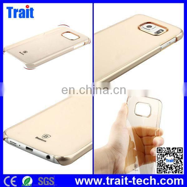High Quality BASEUS Slim Crystal Clear Transparent PC Case Cover for Samsung Galaxy S6 G9200