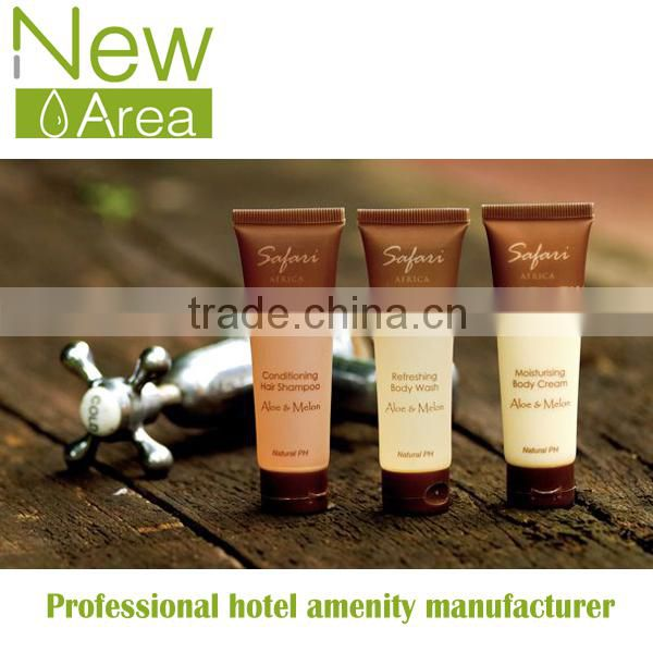 full set of hotel guest cosmetic set shampoo shower gel conditioner body lotion in plastic tube 30ml