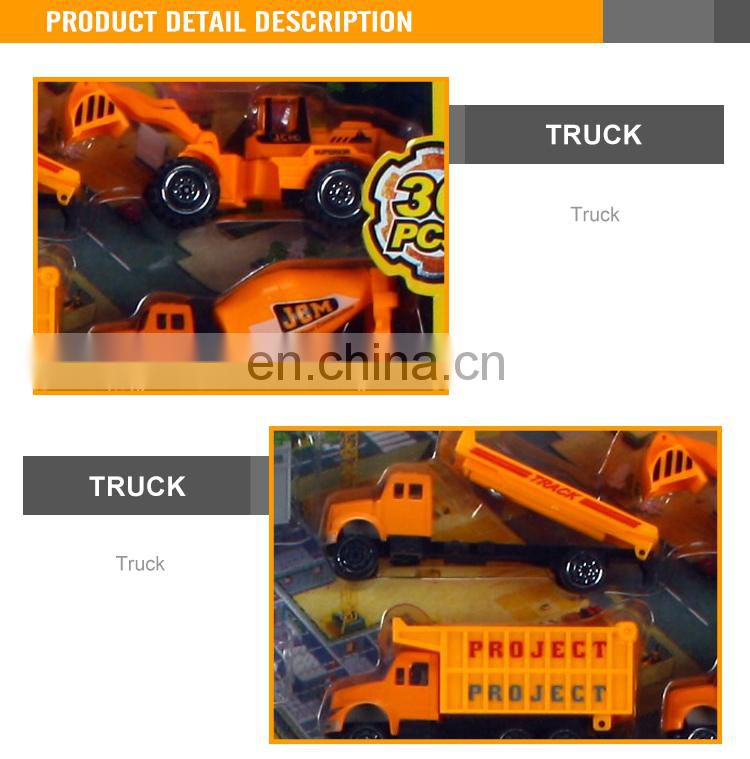 New Design Free Wheel 1:87 Scale Die Cast Truck Toy Engineering Set