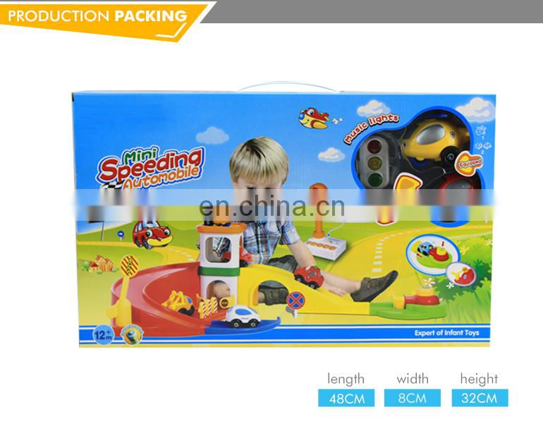 New design funny plastic toy race track with light and music