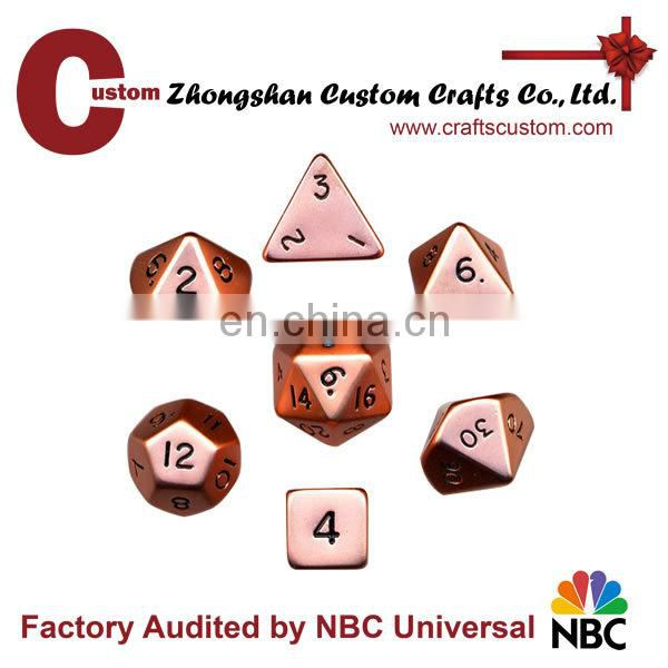 Custom logo fluffy dice sets decision dice sets