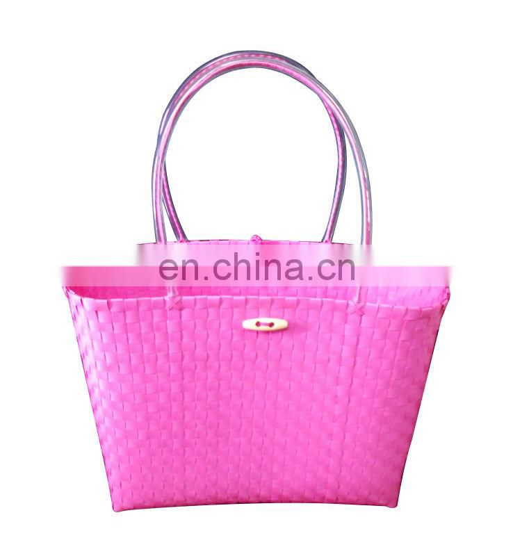 Plastic hand woven Shopping bag