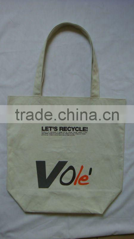 Canvas bag with heat-stamp printing