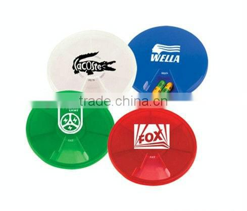 Healthy care Plastic 7 days Round pill box China Supplier