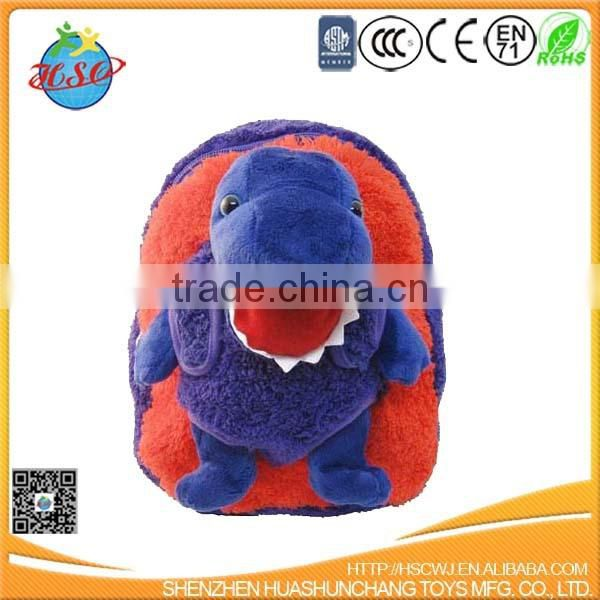 plush child backpack bag toy &plush dinosaur school bag