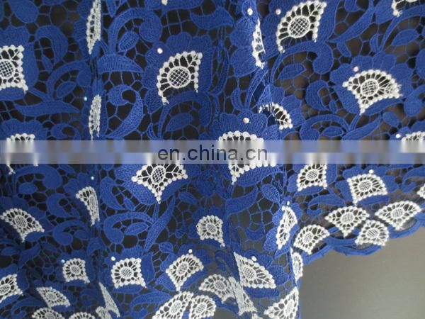 2016 high quality african guipure lace fabric for nigeria wedding party