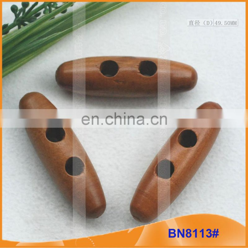 Fashion Natural Wooden Horn Toggle Button for Garments BN8113