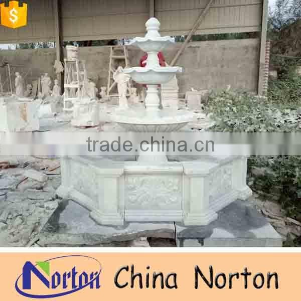 Marble outdoor antique big swan water fountains NTMF-S033Y