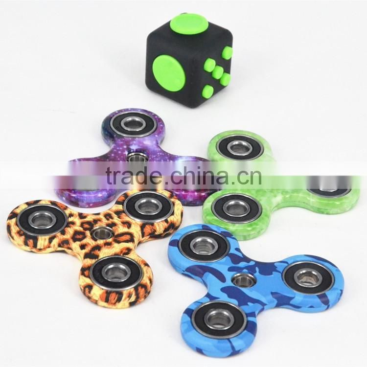 Customized Package Colorful Fidget spinner Toy Hand Spinner With Ceramic 608