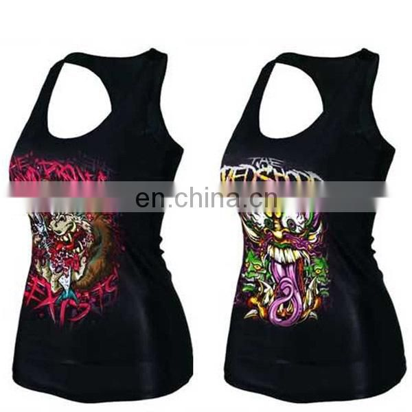 Custom Sublimation Polyester 3D Printing Promotion Sport Tank Top