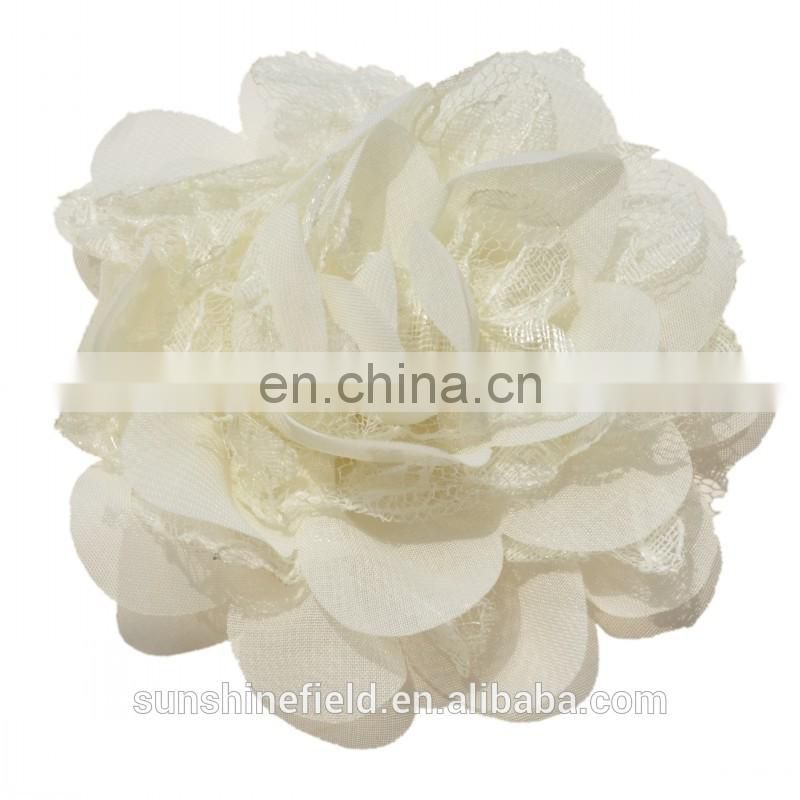Lace chiffon flower Headdress flower new design flower handmade flower