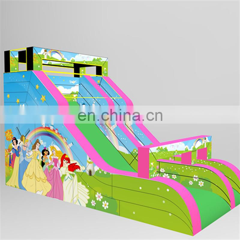 Most popular Inflatable sliding games , Princess inflatable multi section slip and slide slippers for kids and adults
