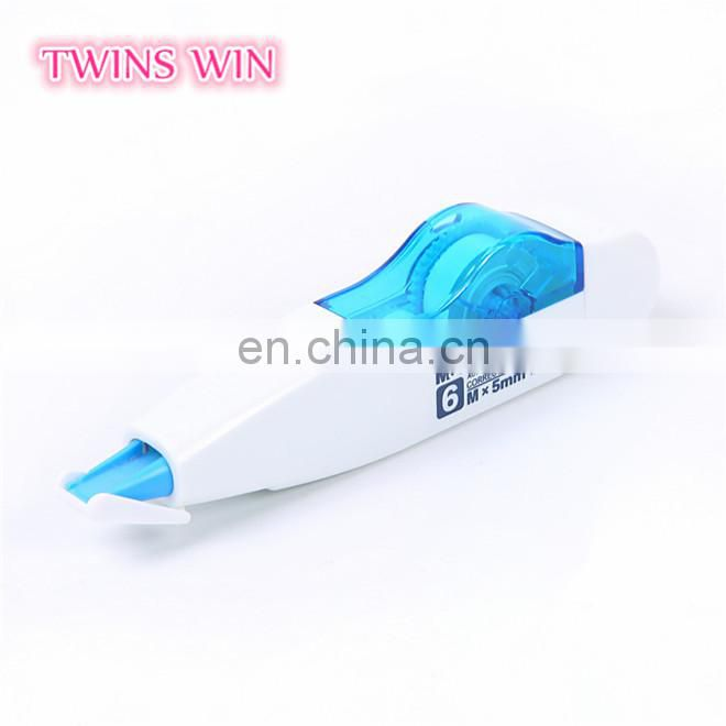 Latest top selling stationery in india office school popular use plastic colored correction tape free samples