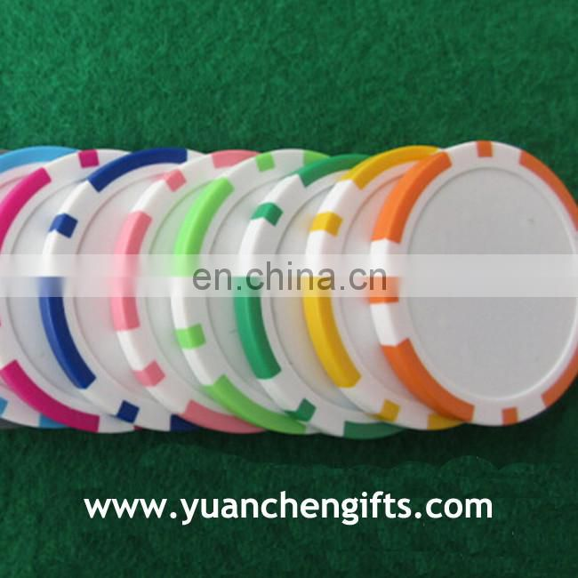 2016 New UV checking custom poker chips in ABS material