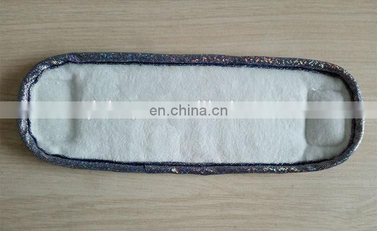 Special Design Custom Plush Wrist Strap with Sequin Patches