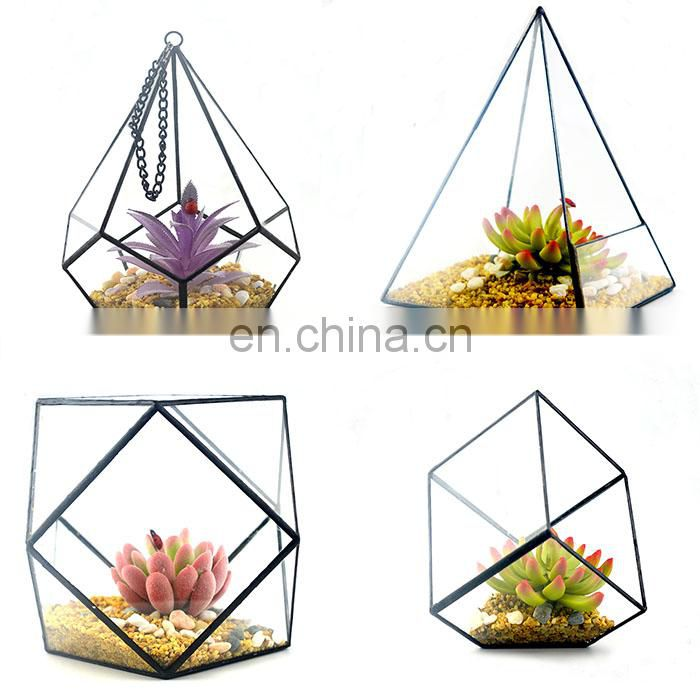 terrarium geometric glass terrarium wholesale with rings