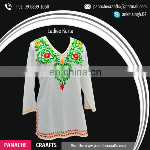 100% Pure Cotton Hand Work Kurti, Lady Kurti for Women