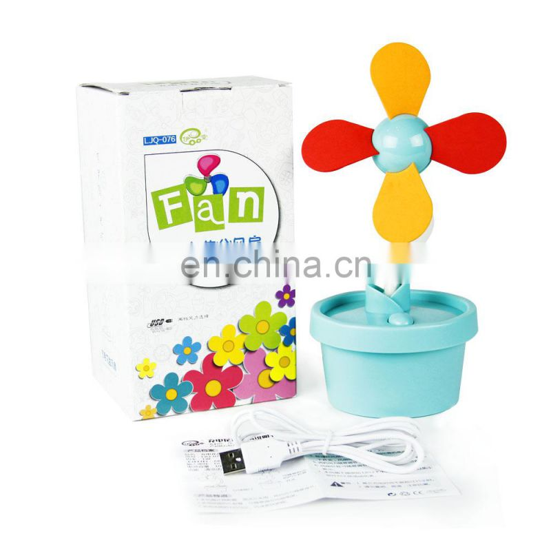 Best selling vase fan decorative USB portable fan small usb stand fan